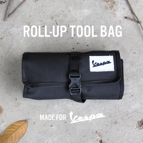 Roll up tool bag canvas for Vespa and others