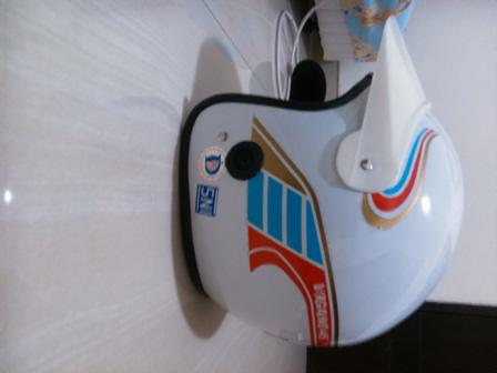 HELM VIGANO WHITE. HALF FACE. NOS! EXCELLENT CONDITION!