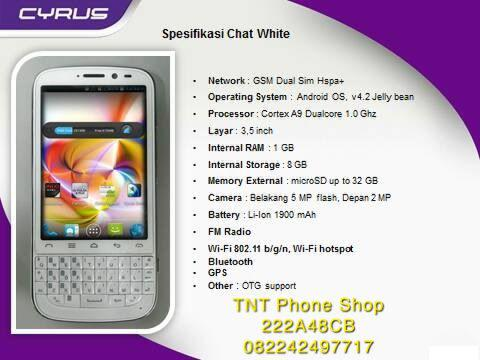 New Cyrus Chat RAM 1GB - Internal 8GB semakin mantap tetap MurMer