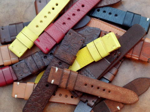 (PART 35) Leather Strap Vintage uk 20/22/24mm.