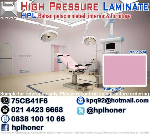 Interior & Furniture Rumah Sakit Laboratorium HPL Hospital Lab Kamar Rawat Operasi