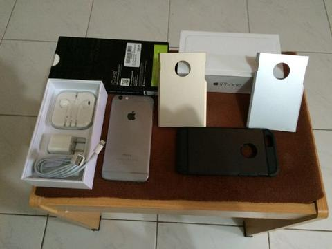 Iphone 6 Space Grey 16GB Internasional baru Sebulan banyak bonus Solo