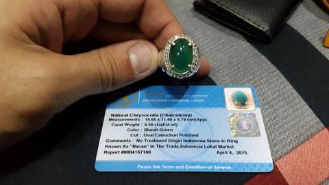wts bacan doko (chrysocolla chalcedony) memo DGL HQ no treatment mantapppp