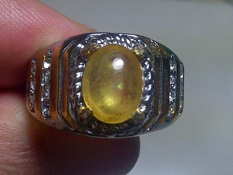 natural yellow safir