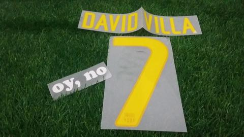 Nameset Barcelona Home 11-12 David Villa & Fabregas ORIGINAL