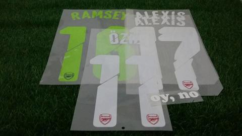 Nameset Arsenal Home & 3rd UCL 14-15 Alexis, Ozil, Ramsey ORIGINAL