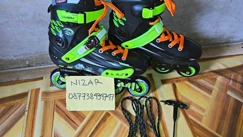 Inline Skate Weiqiu Evo Black Green Like New ( Sepatu Roda )