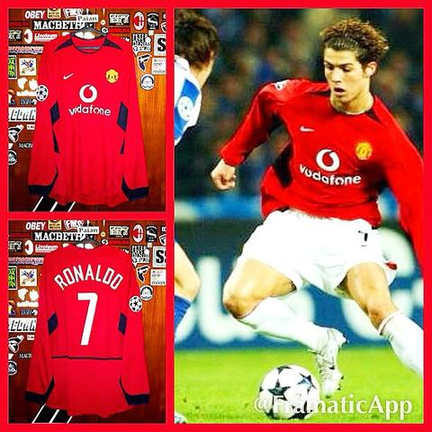 [WTS] Jersey Manchester United Home 2003/2004 #7 RONALDO Long Sleeve (Original)