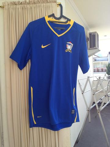 DIJUAL RARE ORIGINAL NIKE NATIONAL JERSEY THAILAND 2008 AWAY BLUE