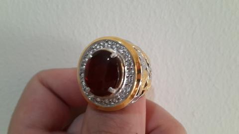 Cincin Reddish Brown FIRE OPAL (Kalimaya Api) HQ