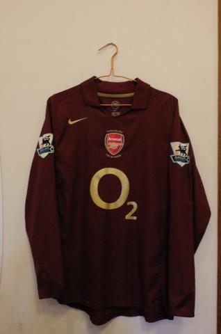 Jersey Arsenal 05/06 LS Maroon Highbury ORIGINAL (no madrid milan manchester)