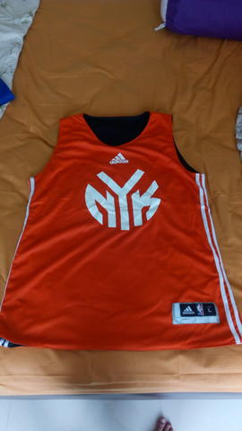 JERSEY TRAINING NBA KNICKS ORANGE REVERSIBLE
