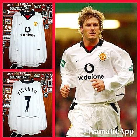 [WTS] Jersey Manchester United Away 2002/2003 #7 BECKHAM Long Sleeve (Original)