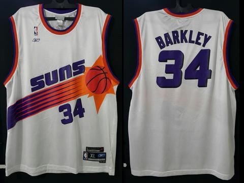 2nd Rare jersey NBA Suns Barkley34 ring of honor original replika reebok XL