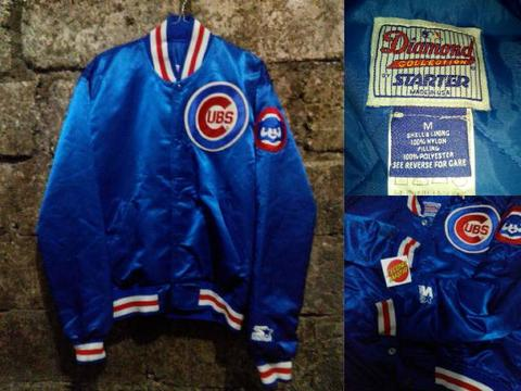 6e1656a1f Terjual JAKET BASEBALL CHICAGO CUBS by starter (original branded ...
