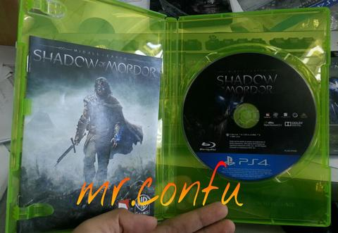 PS4 Middle Earth SHADOW of MORDOR Reg 3 (tanpa cover)