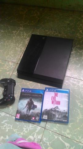 Jual ps4 + bd Shadow of Mordor dan The Evil Within