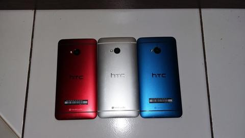 HTC ONE M7 Red, Blue, Silver. aneka warna Mulusss dan NO PT