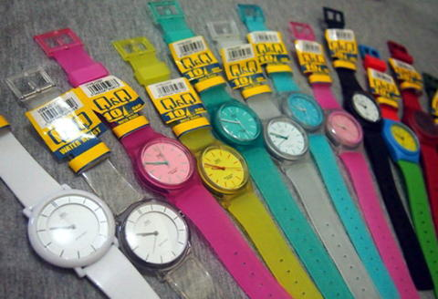 Terjual jam tangan original QnQ QQ Q Q rubber anti air  75963d7050