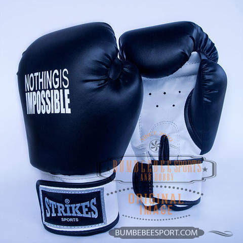 Sarung Tinju Muaythai Strikes Nothing Is Impossible - Boxing Gloves