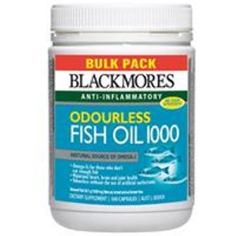 Blackmores Odourless Fish Oil... 1000 mg... Isi 400 Tab