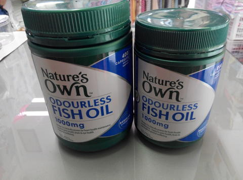 Nature's Own Odourless Fish Oil 1000mg 200/400 caps, Glucosamine 1500mg 250 tabs