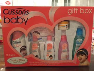WTS Cussons baby gift box