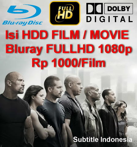 Isi HDD Hollywood Box Office Movie Kualitas Bluray FULLHD 1080p Sub Indo Rp 1000/Film