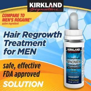 Kirkland Minoxidil 5% Extra Strength Hair Regrowth for Men, 12 Months Economy Pack