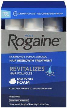 Rogaine for Men Hair Regrowth Treatment, 5% Minoxidil Topical Aerosol