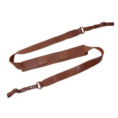 HEVY LEATHER CAMERA STRAP - DSLR Strap Havana Brown