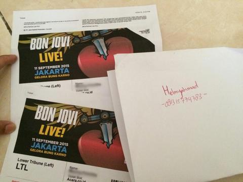 Tiket BONJOVI live in concert 11 sep 15