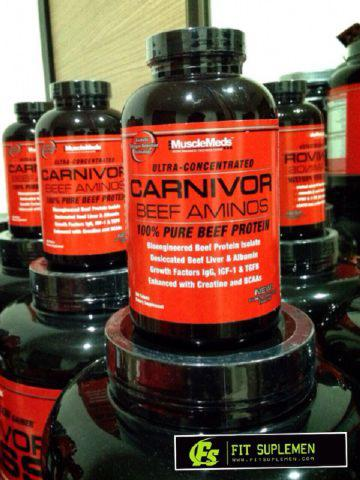 suplemen fitnes carnivor amino bcaa ast creatine serious mass gainer whey on