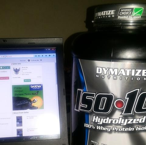 ecer whey protein iso 100 dymatize rasa cookies and cream