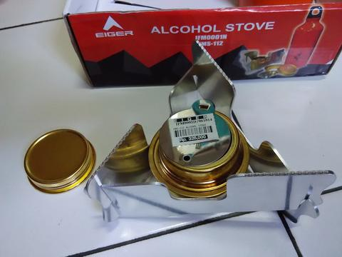 EIGER ALCOHOL STOVE ORIGINAL 100%, KOMPOR PORTABLE
