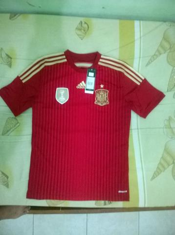 JERSEY SPANYOL / SPAIN HOME YOUTH ADIDAS XL BOYS WORLCUP 2014 - 2015 BNWT ORIGINAL