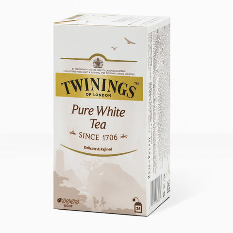 TWININGS Pure White Tea '25 sachet - 37.5g (Teh Impor)
