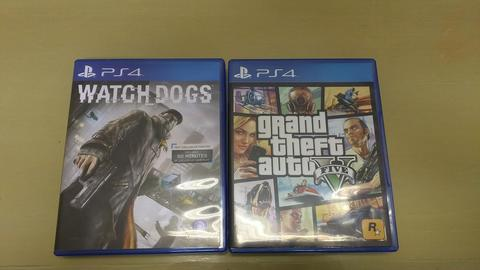 DI JUAL GRAND THEFT AUTO 5 (GTA V) & WATCH DOGS PS4