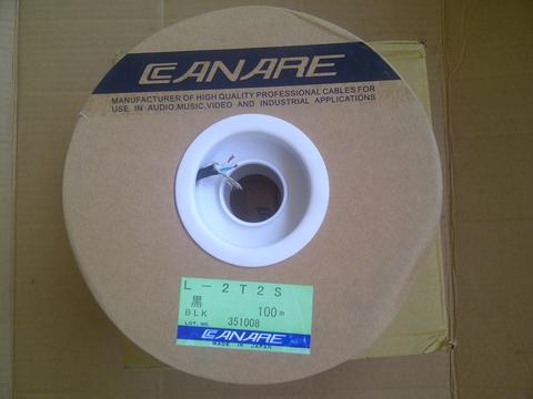 Jual Cable Canare L-2T2S, Black, Made China, Kwalitas KW1, New.