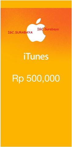 IGC iTunes Gift Card READY ALL NOMINAL surabaya MURAH iPhone iPad Macbook