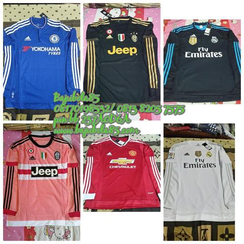 JERSEY LONGSLEEVE 2015 (MANCHESTER UNITED, JUVENTUS, MADRID, BARCELONA, CHELSEA)