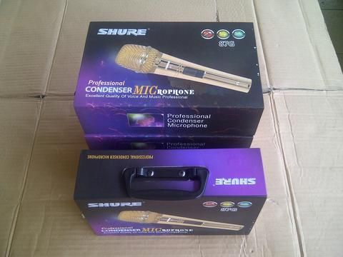 Microphone Condensor SHURE 87G GOLD, Bonus Cable, New.