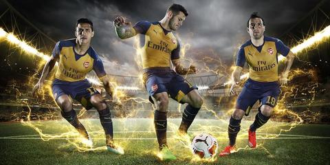 Jersey Arsenal Away 2015/2016 Official Top Quality
