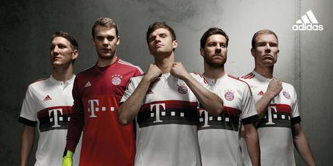 Jersey Bayern Munchen Away 2015/2016 Official Top Quality