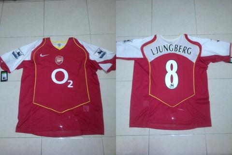 WTS JERSEY ARSENAL HOME 2004-2005 NNS LJUNGBERG FULL PATCH
