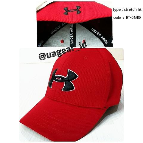 Men's UA blitzing II stretch fit cap Red