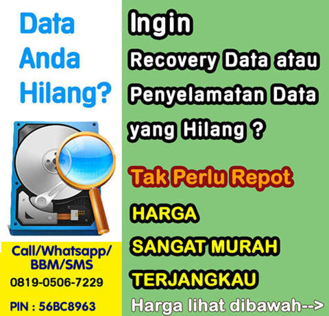 JASA RECOVERY DATA HDD, FlashDISK, SDCard, CD, NAS, Server 0819.0506.7229 TERPERCAYA