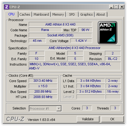 PC Design / Render Athlon II X3 440 (3.0Ghz) Bandung
