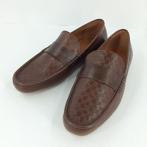JUAL SEPATU GUCCI COKLAT KULIT MODEL SIMPLE MIRROR QUALITY | SMS: 0812 1737 9888
