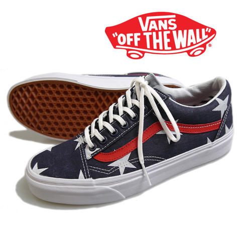 VANS Old Skool Navy Star & Stripes Sneaker Shoes